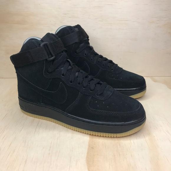 Nike Shoes New Air Force 1 High Suede Black Gum Poshmark